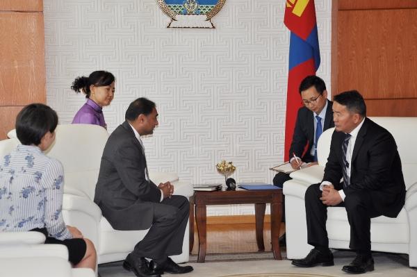 Монгол Улсын Ерөнхийлөгч Х.Баттулга НҮБ-ын ХХААБ-ын Суурин төлөөлөгчийн үүрэг гүйцэтгэгч Аднан Рауф Куэрэшийг хүлээн авч уулзлаа