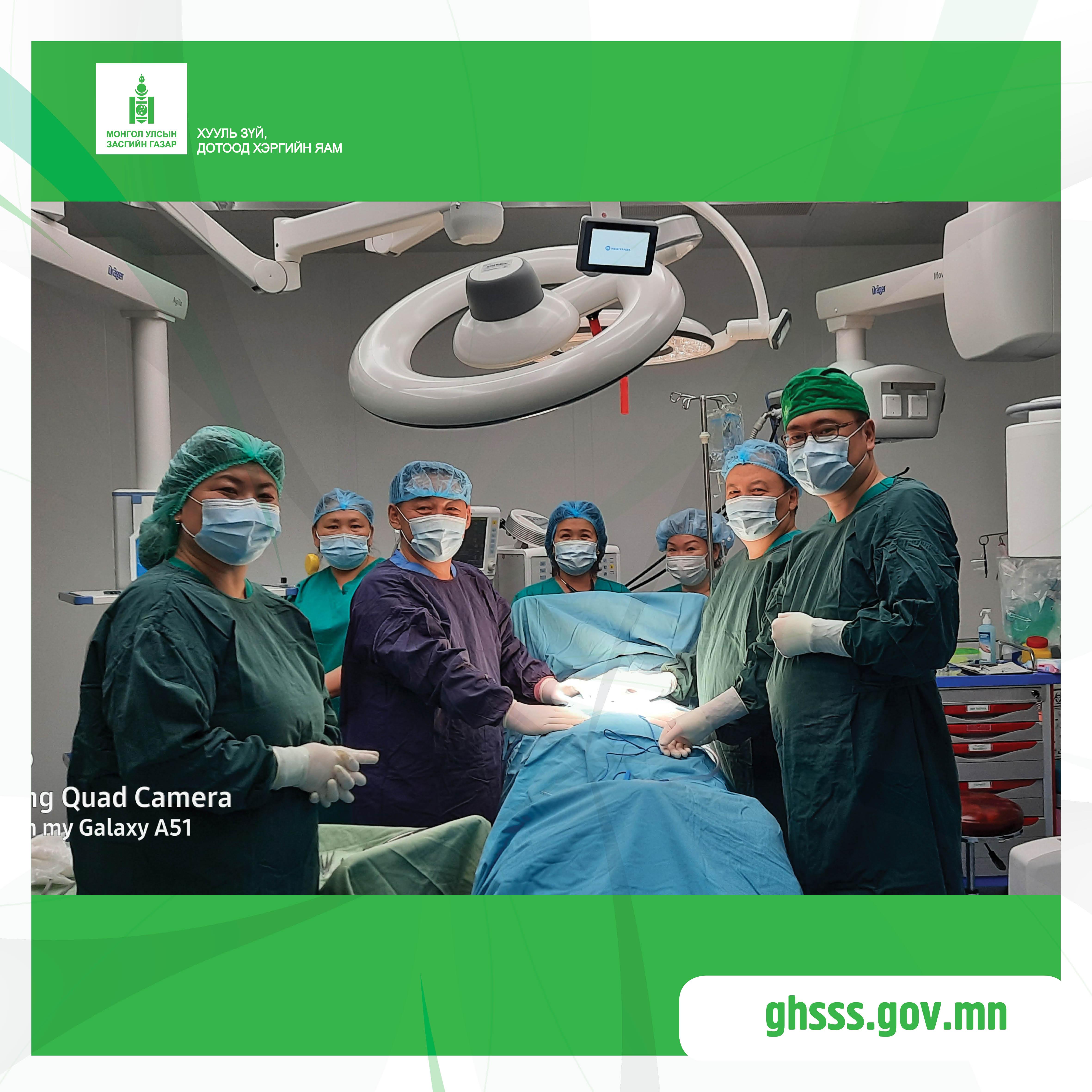Төрийн тусгай албан хаагчдын нэгдсэн эмнэлэг Мэдрэлийн мэс заслын эмчилгээг тусламж үйлчилгээндээ нэвтрүүллээ