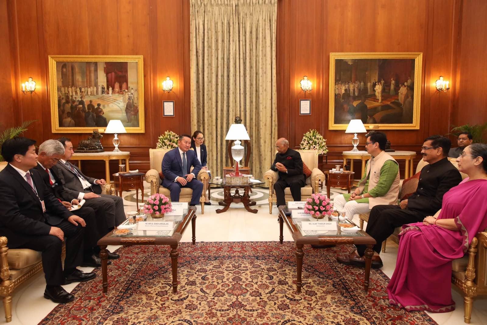 Монгол Улсын Ерөнхийлөгч Х.Баттулга, Бүгд Найрамдах Энэтхэг улсын Ерөнхийлөгч Рам Натх Ковинд нар уулзлаа